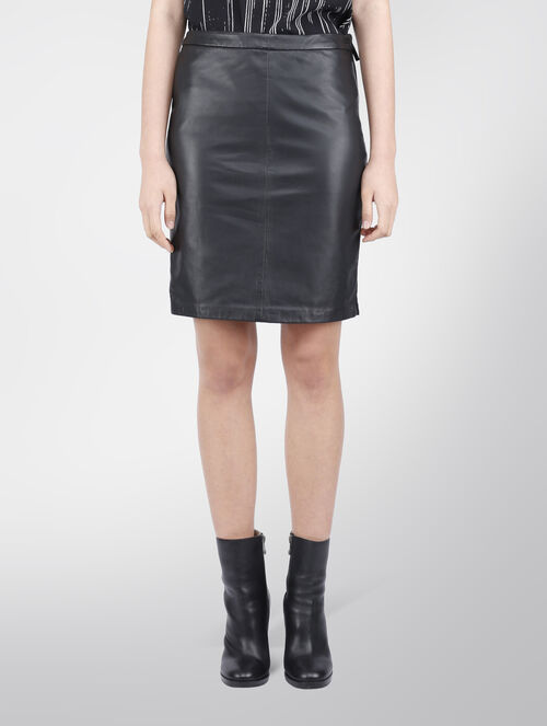 CALVIN KLEIN FARAH LEATHER SKIRT