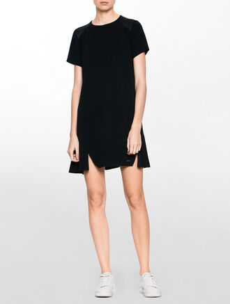 CALVIN KLEIN DACIA A-LINE MIXED DRESS