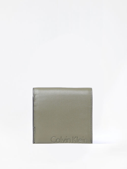 CALVIN KLEIN CAMO TWO FOLD BILLFOLD WITH COIN CASE