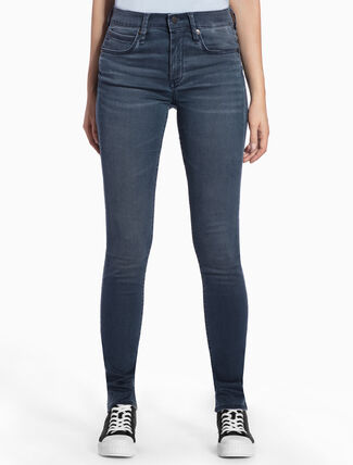 CALVIN KLEIN GLAZE BLUE STRAIGHT BODY JEANS