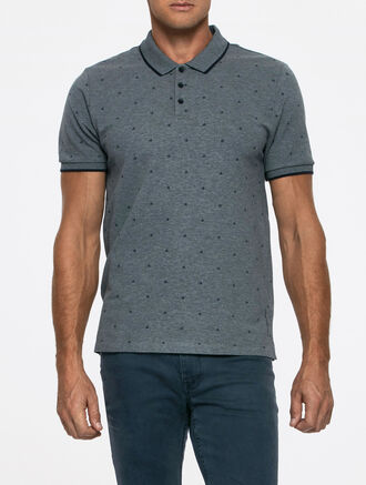 CALVIN KLEIN PACE 1 ALL OVER PRINT POLO SHIRT