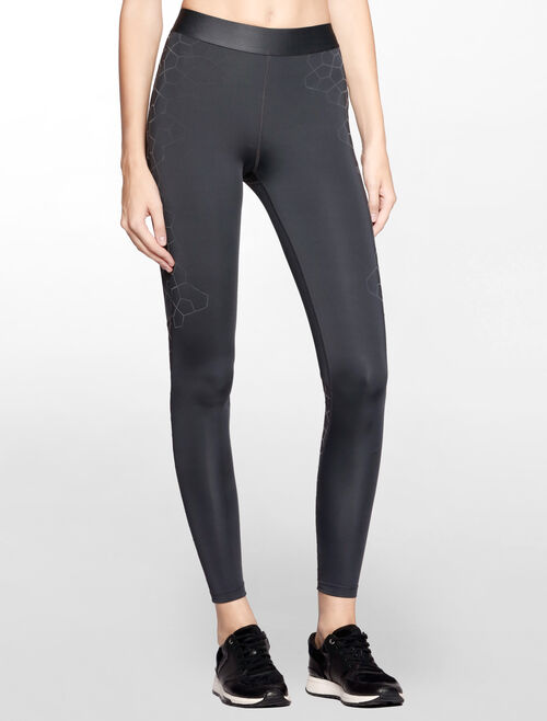 CALVIN KLEIN SILICON FLOCKING FULL LENGTH LEGGING