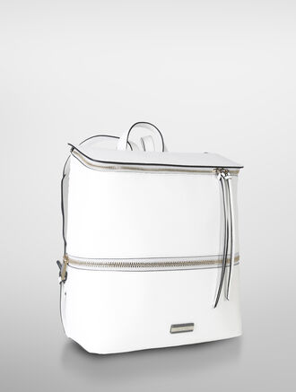CALVIN KLEIN SIMPLE STITCH CITY FLAP BACKPACK