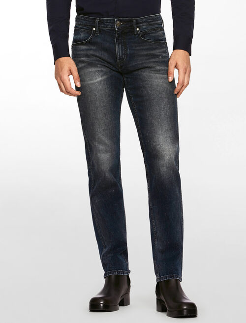 CALVIN KLEIN CORN FLOWER SCULPTED STRAIGHT JEANS