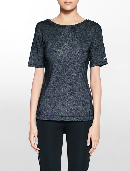 CALVIN KLEIN fashion tee with asymmetric back opening