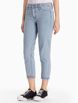 CALVIN KLEIN SIOUXIE BLUE HIGH STRAIGHT JEANS