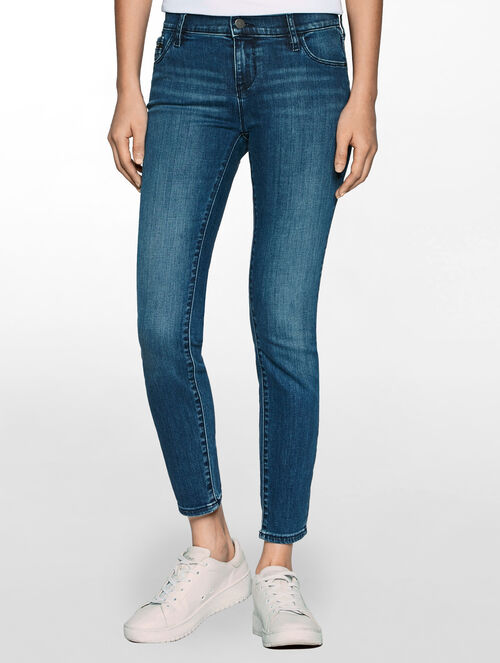 CALVIN KLEIN WONDER MID MID RISE SKINNY ANKLE JEANS