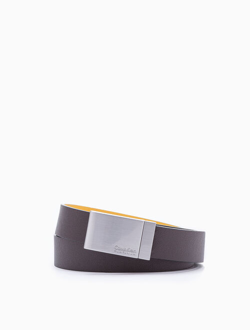 CALVIN KLEIN REVERSIBLE LOGO PLAQUE BELT
