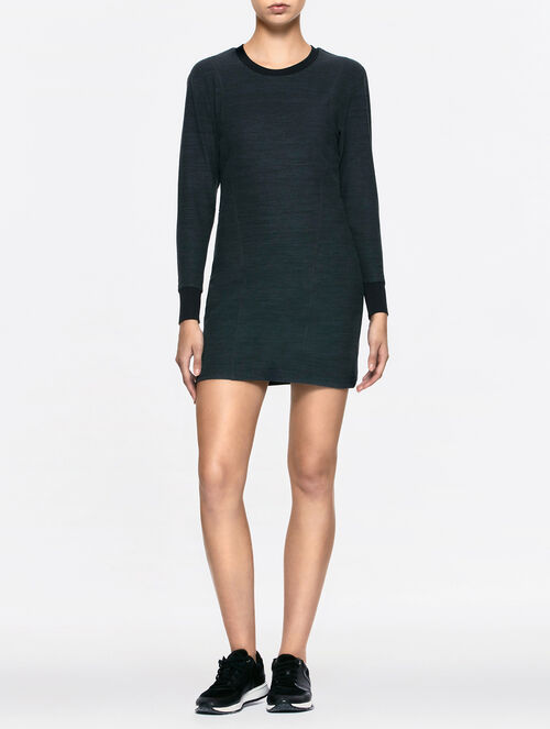 CALVIN KLEIN TERRY LONG SLEEVES MINI DRESS