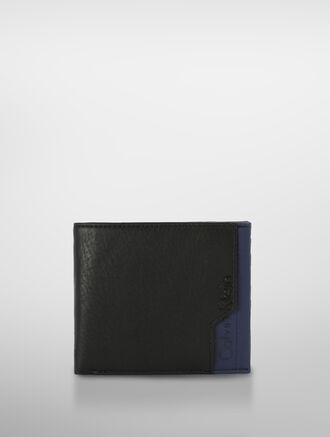 CALVIN KLEIN GRAYSON LEATHER BILLFOLD WITH PULLOUT CASE