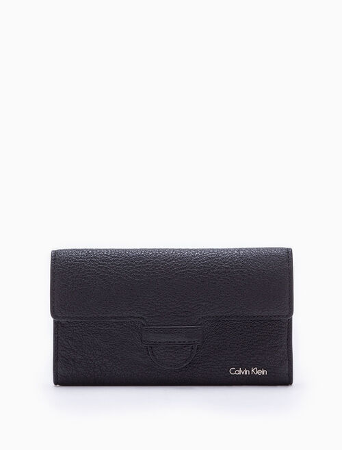 CALVIN KLEIN MAGNETIC TAB LONG FOLD WALLET
