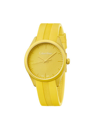 CALVIN KLEIN YELLOW COLOR PERFORMANCE WATCH