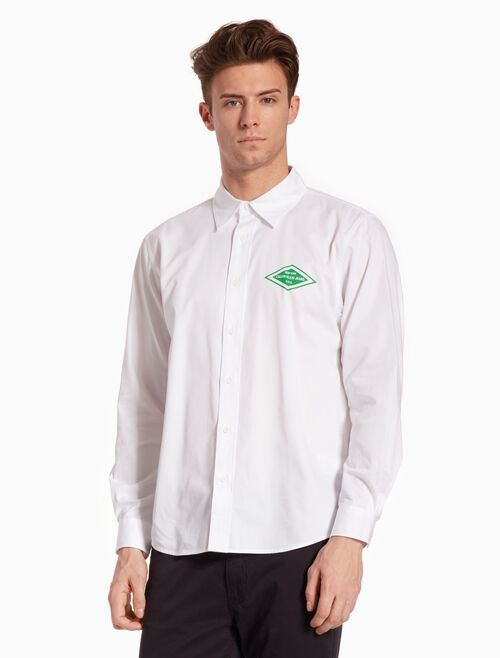 CALVIN KLEIN WOVEN LOGO STAMP 셔츠