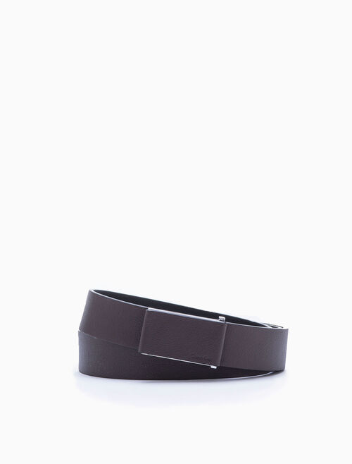 CALVIN KLEIN COVERED PLAQUE BELT