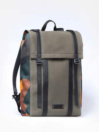 CALVIN KLEIN SPORTS LUXE CANVAS METRO BACKPACK