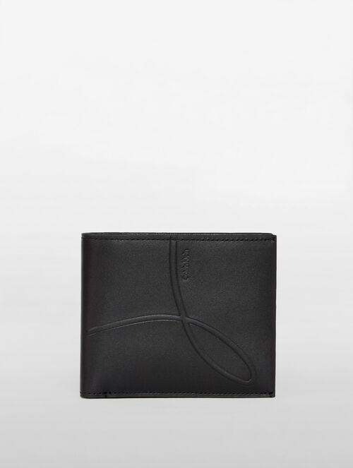 CALVIN KLEIN OMEGA DEBOSS BILLFOLD WITH COIN CASE