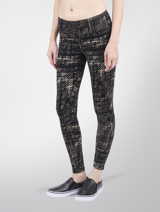 CALVIN KLEIN CIPHER PRINT 7/8 LENGTH LEGGING