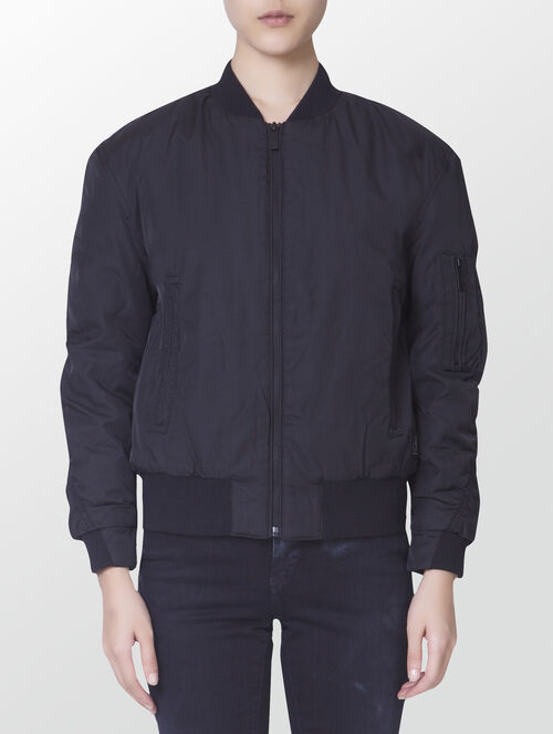 CALVIN KLEIN AVERY COTTON MIX BOMBER JACKET