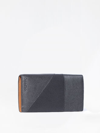 CALVIN KLEIN MIXED TEXTURE LONG ZIP AROUND WALLET
