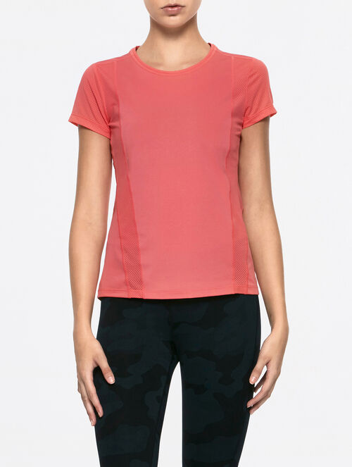 CALVIN KLEIN FABRIC MIX SHORT SLEEVES TEE