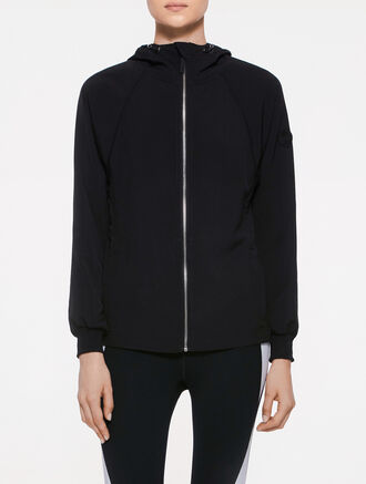 CALVIN KLEIN HIGHLOW HEM HOOD JACKET