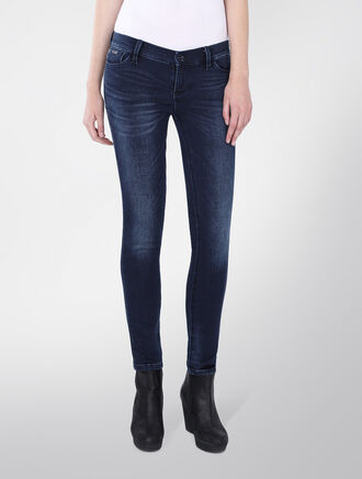 CALVIN KLEIN LOW RISE SKINNY JEANS - MIDNIGHT BLUE DARK