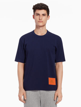 CALVIN KLEIN Silicon logo patch tee