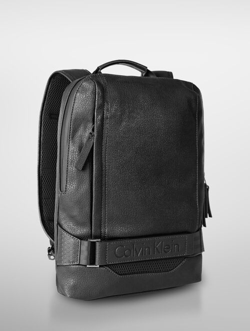 CALVIN KLEIN LOGO STRAP SLIM BACKPACK