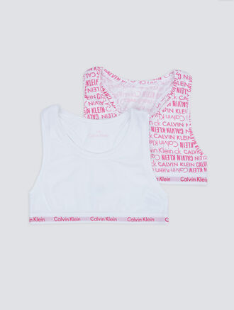 CALVIN KLEIN 2 PACKS KIDS MODERN COTTON BRALETTE - GIRLS
