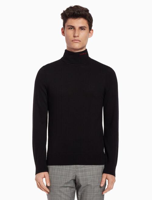 CALVIN KLEIN Wool logo sweater