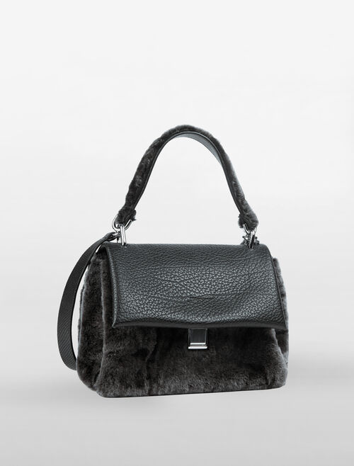 CALVIN KLEIN SLATED SATCHEL
