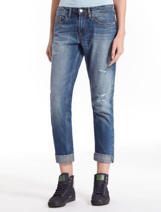 CALVIN KLEIN MORIOKA BLUE 直筒合身布邊牛仔褲