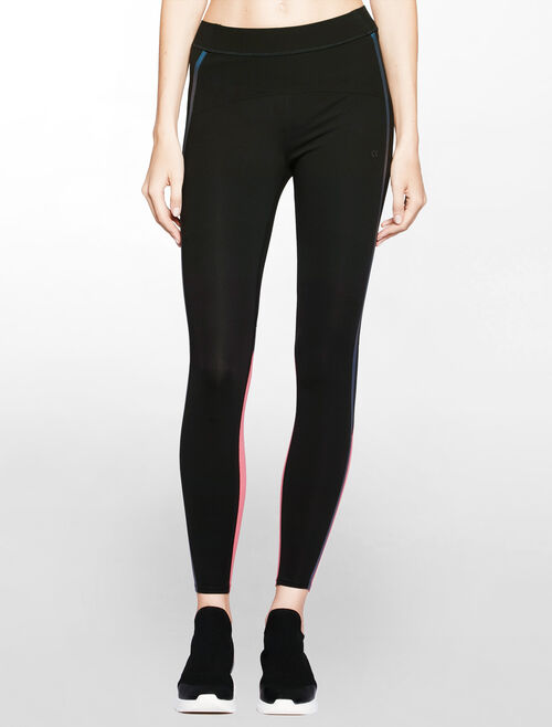 CALVIN KLEIN CONTRAST COLOR BONDED FULL LENGTH LEGGING