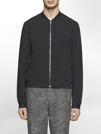 CALVIN KLEIN DISCHARGE PRINT COTTON OUTERWEAR( WES FIT )
