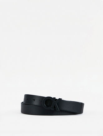 CALVIN KLEIN CK LEATHER WRAPPED BELT