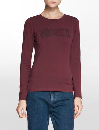 CALVIN KLEIN ファッション ロゴ Tシャツ