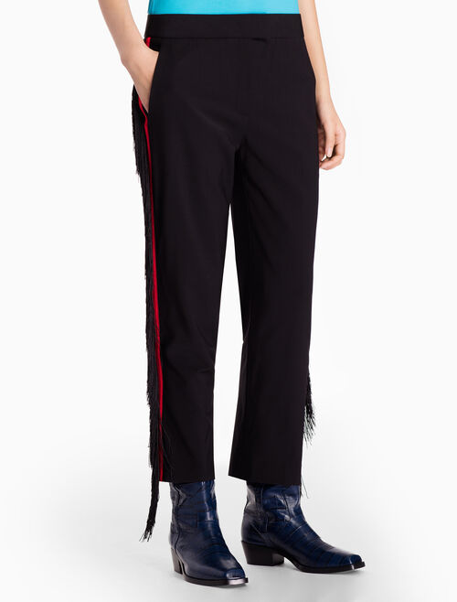 CALVIN KLEIN WOVEN SLIM FIT PANTS WITH TASSELS