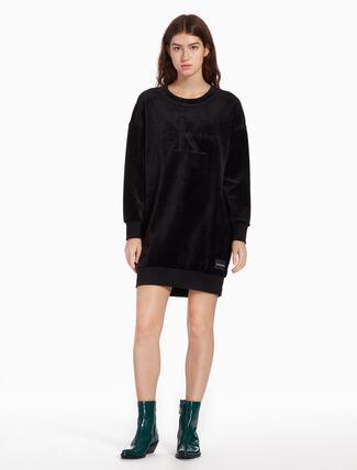 CALVIN KLEIN VELOUR SWEAT DRESS