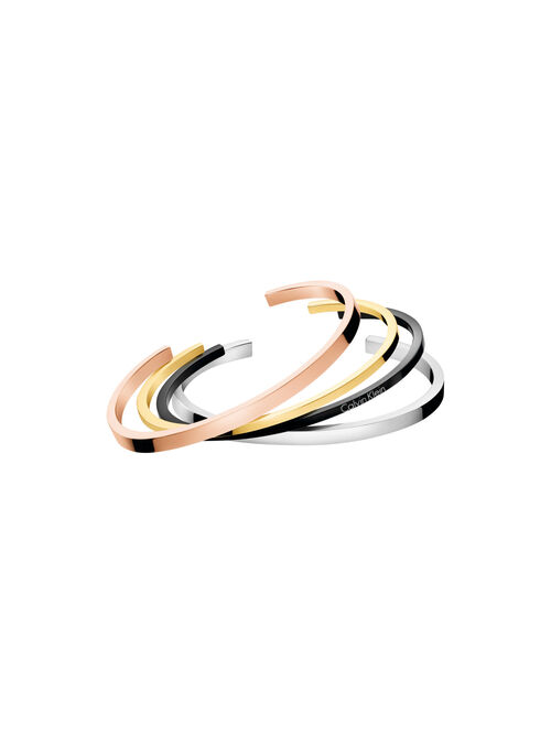 CALVIN KLEIN GORGEOUS OPEN BANGLE SET
