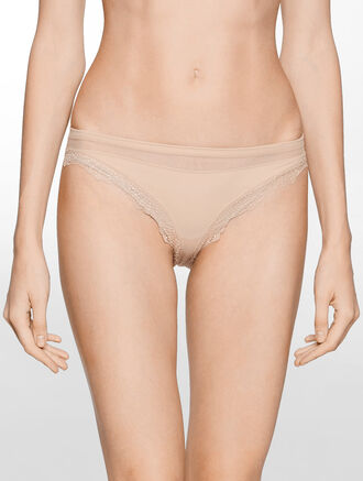 CALVIN KLEIN PERFECTLY FIT MESH WITH LACE BIKINI