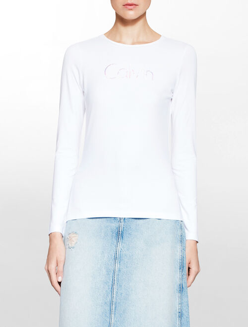 CALVIN KLEIN Institution ロゴ入り T シャツ