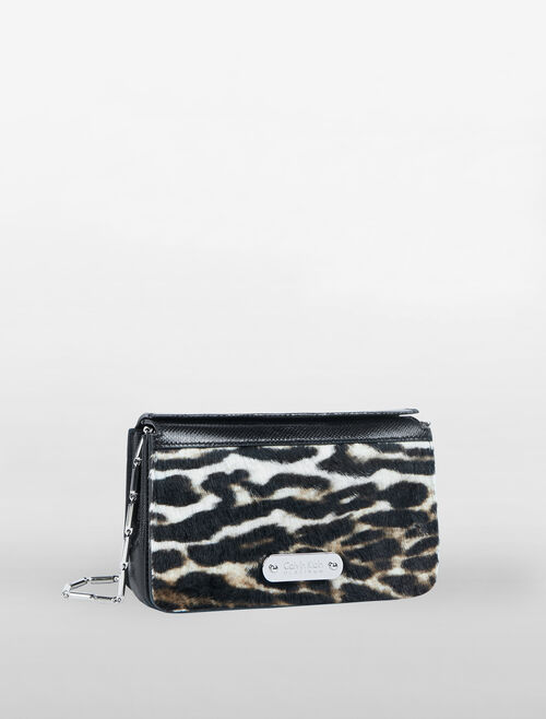 CALVIN KLEIN FLARED BOX CLUTCH WITH CHAIN
