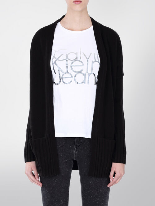 CALVIN KLEIN CHARITY WOOL CASHMERE CARDIGAN