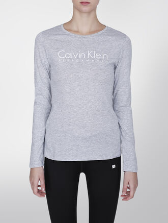 CALVIN KLEIN BASIC LOGO LONG SLEEVE TEE