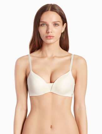 CALVIN KLEIN CK BLACK STRUCTURE MICRO PUSH UP PLUNGE BRA