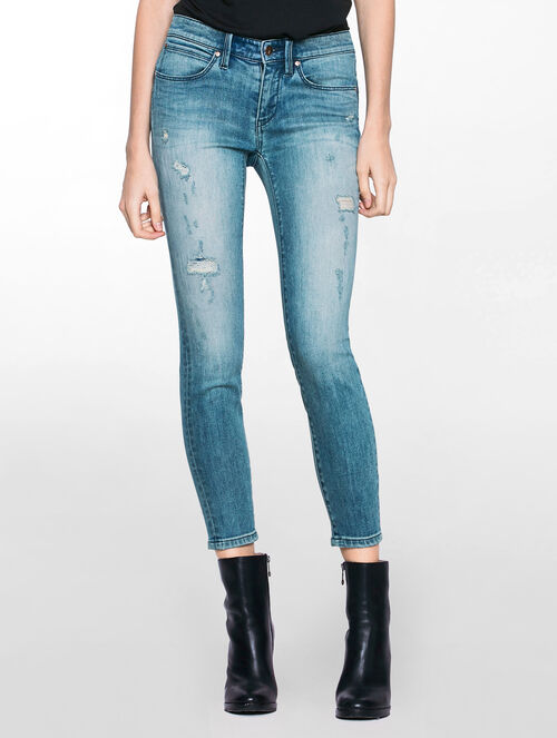 CALVIN KLEIN ADVENTURE BLUE BODY ANKLE JEANS