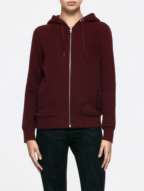 CALVIN KLEIN HD ZIP UP CARDIGN LONG SLEEVES