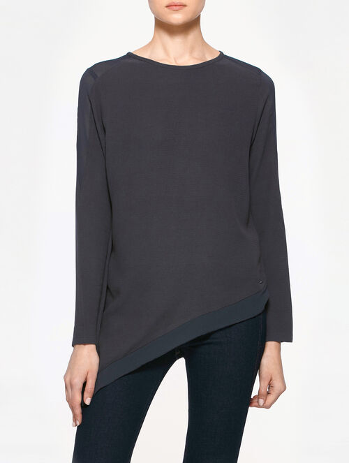 CALVIN KLEIN WALERIE ROUND NECK LONG SLEEVES TEE