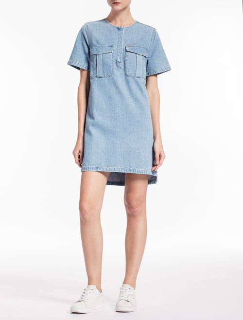 CALVIN KLEIN DALILAH LIGHT INDIGO DENIM TUNIC