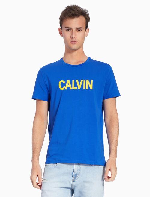 CALVIN KLEIN KNIT LOGO TEE